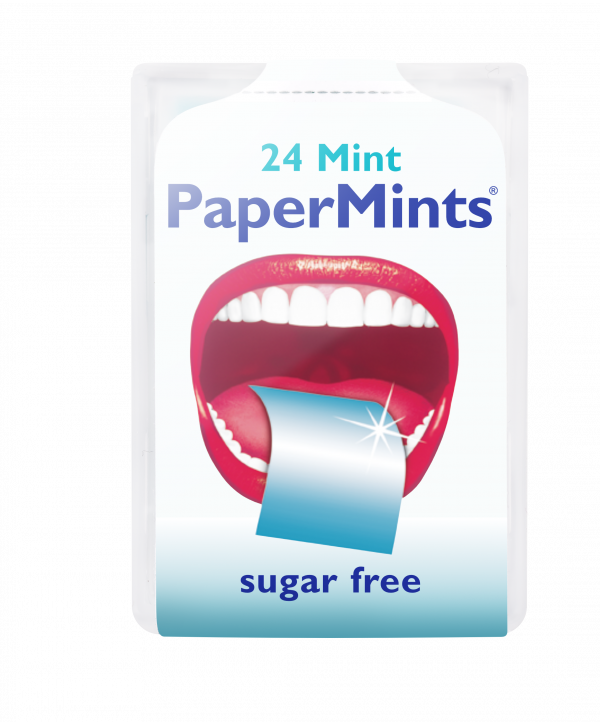 The famous mint leaves that melt on your tongue. Elegant, lightweight, discrete & intense freshness quarantine with the PaperMints strips. sugar free!