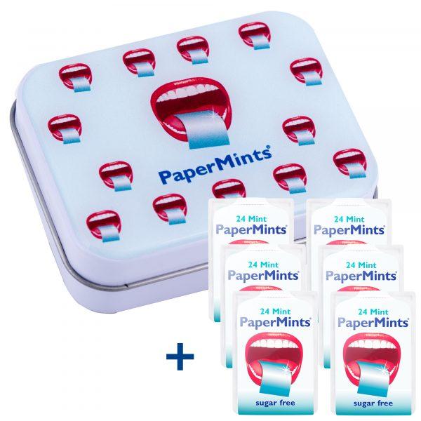 Metal tin 6 Papermints+6 Papermints